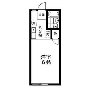 世田谷区 駒沢 1R アパート 間取り