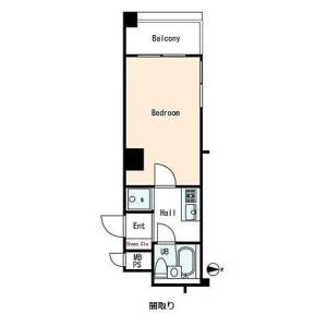 1K {building type} in Saginomiya - Nakano-ku Floorplan