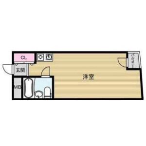 1R Mansion in Uchiawajimachi - Osaka-shi Chuo-ku Floorplan