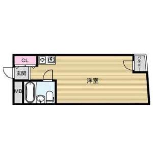 大阪市中央区内淡路町-1R公寓大厦 楼层布局