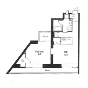 1LDK Mansion in Kitasenzoku - Ota-ku Floorplan