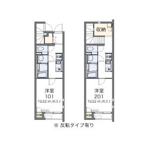 名古屋市南區北内町-1K公寓 房間格局