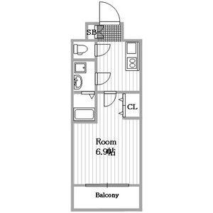 1K Mansion in Nishisuminoe - Osaka-shi Suminoe-ku Floorplan