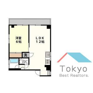 1LDK Mansion in Saneicho - Shinjuku-ku Floorplan