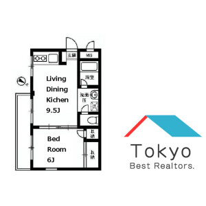 1LDK Mansion in Haramachi - Shinjuku-ku Floorplan