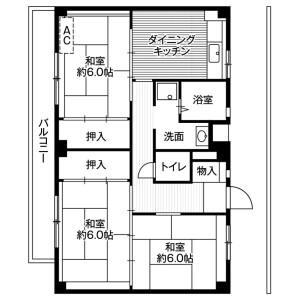 横浜市旭区善部町-3DK公寓大厦 楼层布局