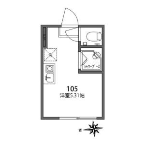 1R Apartment in Iwabuchimachi - Kita-ku Floorplan