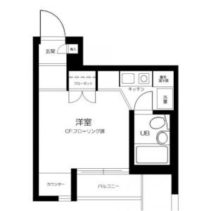 1R Mansion in Nakahara - Yokohama-shi Isogo-ku Floorplan
