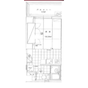 1DK Apartment in Ishiwara - Sumida-ku Floorplan