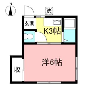 1K Apartment in Nakacho - Musashino-shi Floorplan