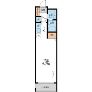 1R Mansion in Meguro - Meguro-ku Floorplan