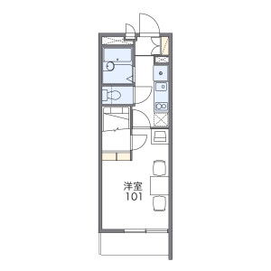 1K Mansion in Asahi - Osaka-shi Nishinari-ku Floorplan