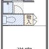 在岐阜市内租赁1K 公寓 的 楼层布局