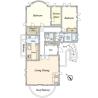 2SLDK House to Rent in Ota-ku Floorplan