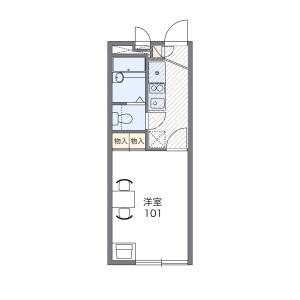 1K Apartment in Tokuriki - Kitakyushu-shi Kokuraminami-ku Floorplan
