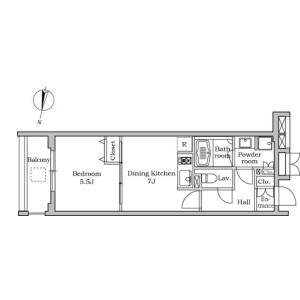 1DK Mansion in Chidori - Ota-ku Floorplan
