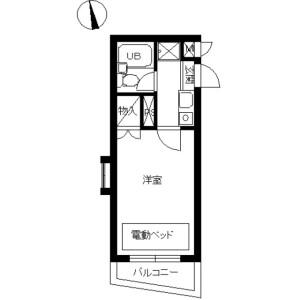1K Mansion in Shimotoda - Toda-shi Floorplan