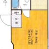在台东区购买1K 公寓大厦的 楼层布局