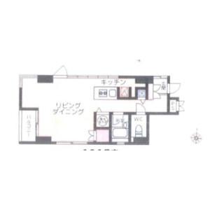 台東區元浅草-1R公寓大廈 房間格局