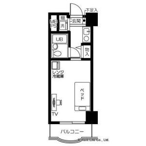 1R Apartment in Hiranuma - Yokohama-shi Nishi-ku Floorplan