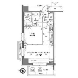 1LDK Mansion in Toyo - Koto-ku Floorplan