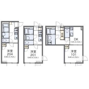 1K Apartment in Tomigaya - Shibuya-ku Floorplan