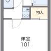 在名古屋市昭和區內租賃1K 公寓 的房產 房間格局