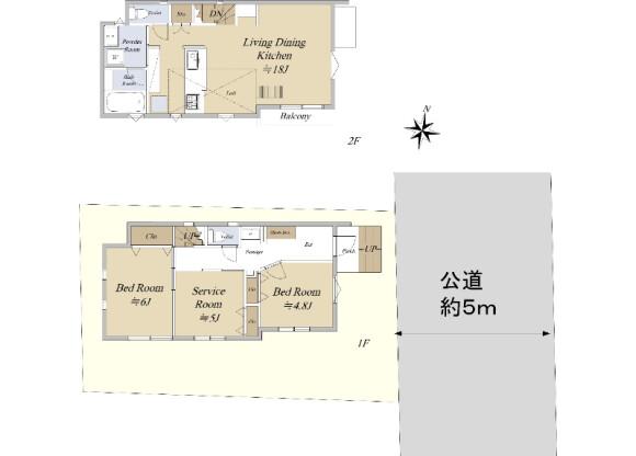 2SLDK House to Buy in Mitaka-shi Floorplan