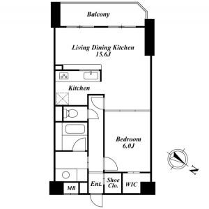 1LDK Mansion in Shimouma - Setagaya-ku Floorplan