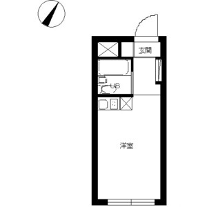 1R Mansion in Yamatocho - Nakano-ku Floorplan