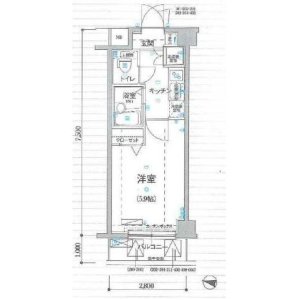 1K Mansion in Kitashinjuku - Shinjuku-ku Floorplan