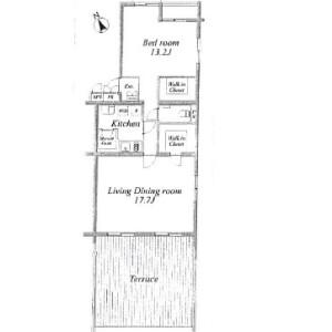 港区六本木-1LDK公寓大厦 楼层布局
