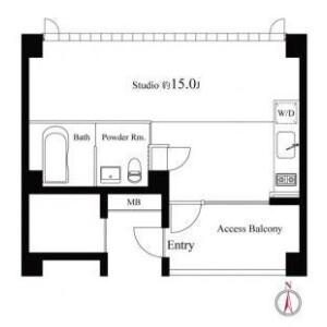 1R Mansion in Minamiikebukuro - Toshima-ku Floorplan