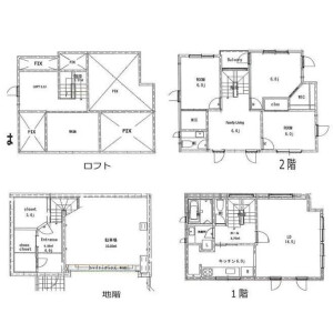3LDK {building type} in Denenchofu - Ota-ku Floorplan