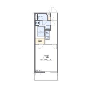 1K Mansion in Hachimangi - Hatogaya-shi Floorplan