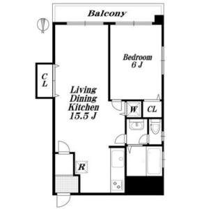 港区 - 麻布十番 公寓 1LDK 房間格局