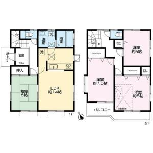 4LDK House in Oyamadai - Setagaya-ku Floorplan
