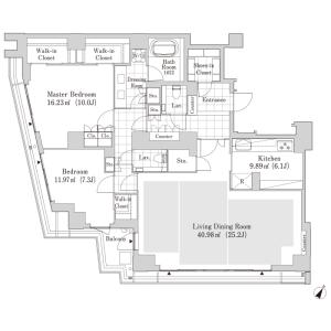 涩谷区神南-2LDK公寓大厦 楼层布局