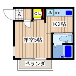 1K Apartment in Kinukasasakaecho - Yokosuka-shi Floorplan