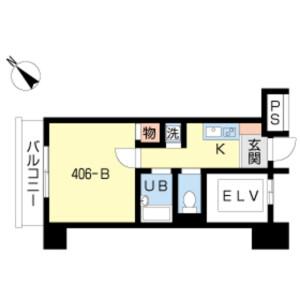 中央區日本橋浜町-1K公寓大廈 房間格局