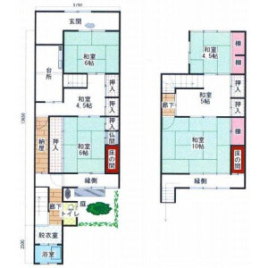 6K {building type} in Ogicho - Kyoto-shi Kamigyo-ku Floorplan