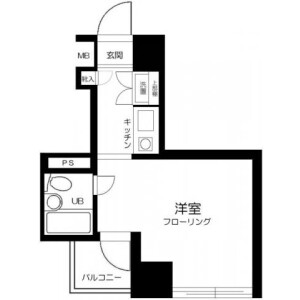1K Mansion in Senzoku - Taito-ku Floorplan