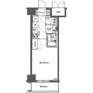1K Mansion in Sakashitacho - Hatogaya-shi Floorplan