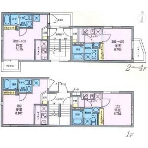 Whole Building {building type} in Nishisugamo - Toshima-ku Floorplan