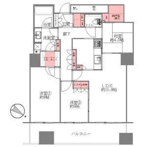 3LDK {building type} in Benten - Osaka-shi Minato-ku Floorplan