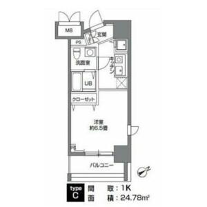 1K Mansion in Negishi - Taito-ku Floorplan