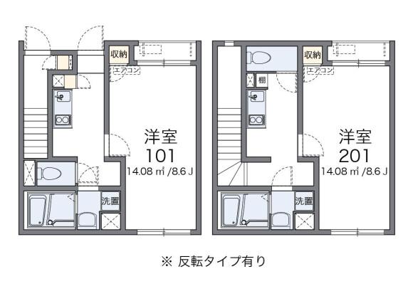 1K House to Rent in Saitama-shi Iwatsuki-ku Floorplan
