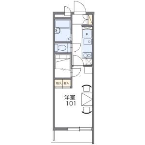 1K Mansion in Nagakicho - Nagoya-shi Kita-ku Floorplan