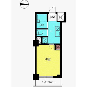 1K Mansion in Shinjuku - Shinjuku-ku Floorplan