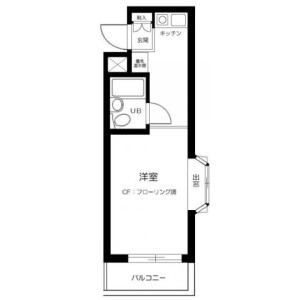 1K Mansion in Oharacho - Itabashi-ku Floorplan
